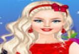 العاب تلبيس باربي لبس أحمر شيك