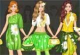 العاب تلبيس الملابس الصفراء والخضراء