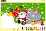 العاب تلوين بابا نويل للاطفال 2016