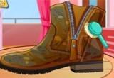 العاب تنظيف الأحذية الشتوية