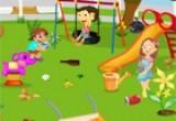 العاب تنظيف وترتيب حديقة الاطفال