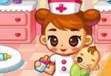 لعبة تربية اطفال في المستشفى