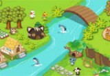 لعبة ترتيب ديكور الحديقة المائية