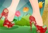لعبة تزيين حذاء باربي للبنات