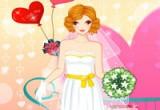لعبة تلبيس فستان الزفاف الابيض الرائع