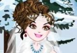 لعبة تلبيس فستان العروسة الابيض الرائع