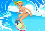 لعبة تلبيس ملابس التزلج على البحر