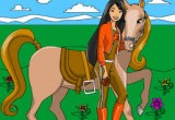 لعبة تلوين باربي والحصان