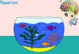 لعبة تلوين حوض السمك