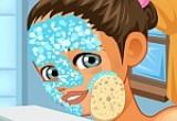 لعبة تنظيف وجه البنت المراهقة