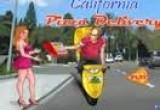 لعبة توصيل البيتزا إلى كاليفورنيا