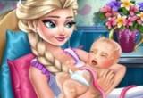 لعبة توليد ملكة الثلج ولادة قيصرية
