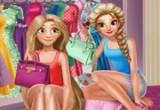 لعبة خزانة الملابس والمكياج لرابونزيل والسا