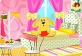 لعبة ديكور الغرفة الوردية الجديده