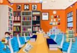 لعبة ديكور المكتبة المدرسية اون لاين