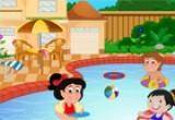 لعبة ديكور حمام سباحة للاطفال الصغار