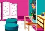 لعبة ديكور غرفة نوم باربي للبنات