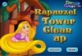 لعبة ربانزل تنظيف المنزل