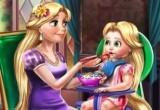 لعبة رعاية الأم رابونزيل لطفلتها