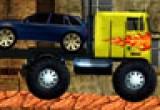 لعبة شاحنة نقل السيارات المعطلة