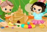 لعبة صنع القلعة الرملية الجديده