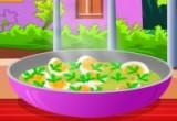 لعبة طبخ البيض بنكهة الكاري