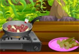 لعبة طبخ الفطر واللحم