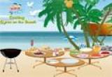لعبة طبخ على شاطئ البحر