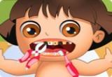 لعبة علاج اسنان دورا
