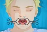 لعبة عملية جراحية للوز الحلق اون لاين