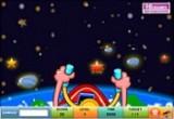 لعبة قيادة المركبة الفضائية في الفضاء وجمع النجوم الذهبية