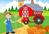 لعبة مزرعة الخضار والفواكة الطازجة