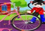 لعبه تنظيف دراجه الفتاه السريعه